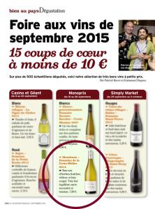 Sélection vins chasseur français