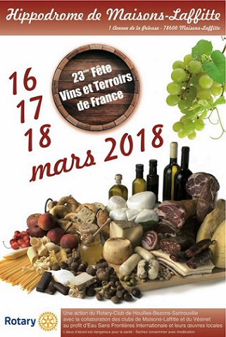 23ème Fête Vins dt Terroirs de France à Maisons-Laffitte